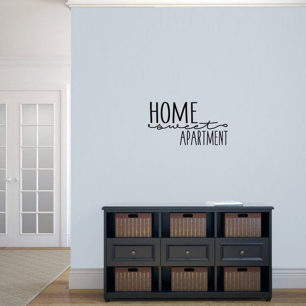 Apartment Shopping: Shop Home Sweet Apartment' 24 X 13-inch Vinyl Wall Decal