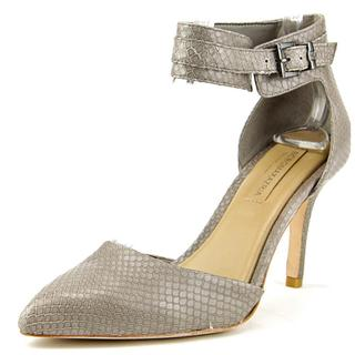 BCBG Max Azria Women's Printz Grey Leather Strappy Sandals
