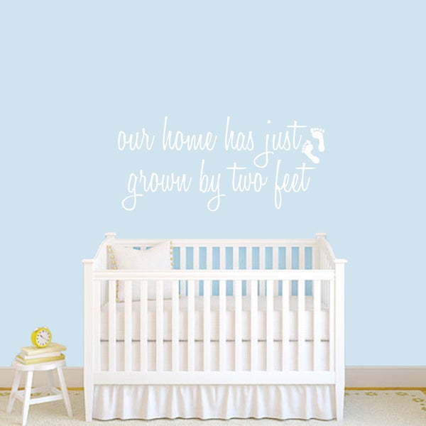 Grown by Two Feet' 48 x 22-inch Baby Nursery Wall Decal
