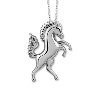 Jewelonfire Sterling Silver Metal Horse Pendant