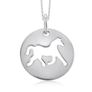 Jewelonfire Sterling Silver Metal Horse Charm Pendant