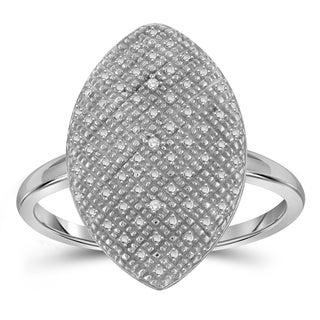 Jewelonfire Sterling Silver White Diamond Accent Marquise Shape Ring
