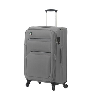 Mia Toro ITALY Alagna Polyester 28-inch Large Expandable Spinner Upright Suitcase
