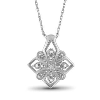 Jewelonfire Sterling Silver White Diamond Accent Pendant