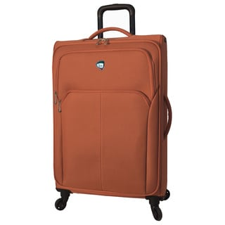 Mia Toro ITALY Vernazza Polyester 26-inch Medium Expandable Spinner Upright Suitcase