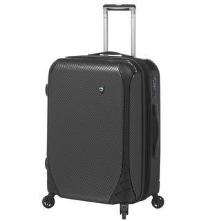 Mia Toro Italy Fibre di Carbonio 24-inch Large Hardside Spinner Upright Suitcase