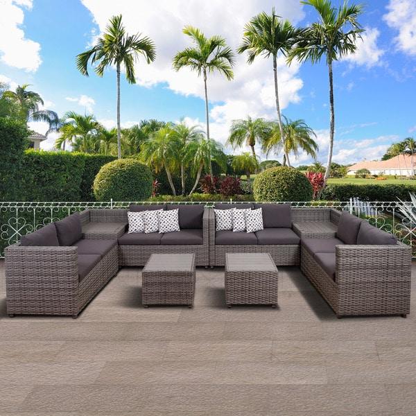 Atlantic Patio Furniture Reviews: Shop Atlantic Freeport 6 Piece Patio Sectional Set, Grey