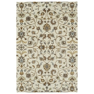 "Hand-Tufted Perry Linen All-Over Wool Rug (5'0 x 7'9"")"