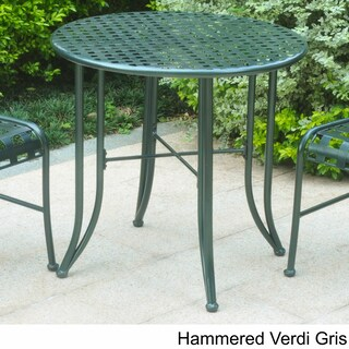 International Caravan Mandalay 30-inch Iron Patio Bistro Table