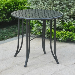Link to International Caravan Mandalay 30-inch Iron Patio Bistro Table Similar Items in Patio Dining Chairs