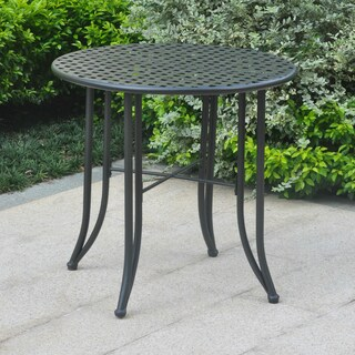 International Caravan Mandalay 30-inch Iron Patio Bistro Table (4 options available)