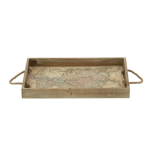 3f05db6696 Shop Wood Tray with Rope Handles - Free Shipping On Orders Over $45 -  Overstock - 11891348