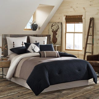 True Timber Pieced Stripe 4-piece Comforter Set