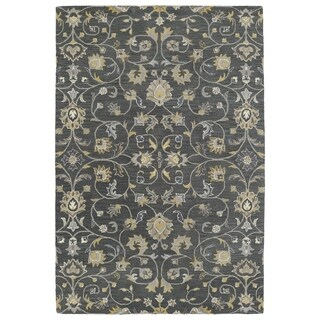 Hand-Tufted Perry Graphite All-Over Wool Rug (2'0 x 3'0)