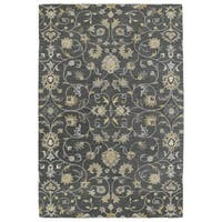 Hand-Tufted Perry Graphite All-Over Wool Rug - 2' x 3'