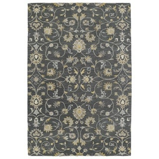 Hand-Tufted Perry Graphite All-Over Wool Rug (3' x 5')