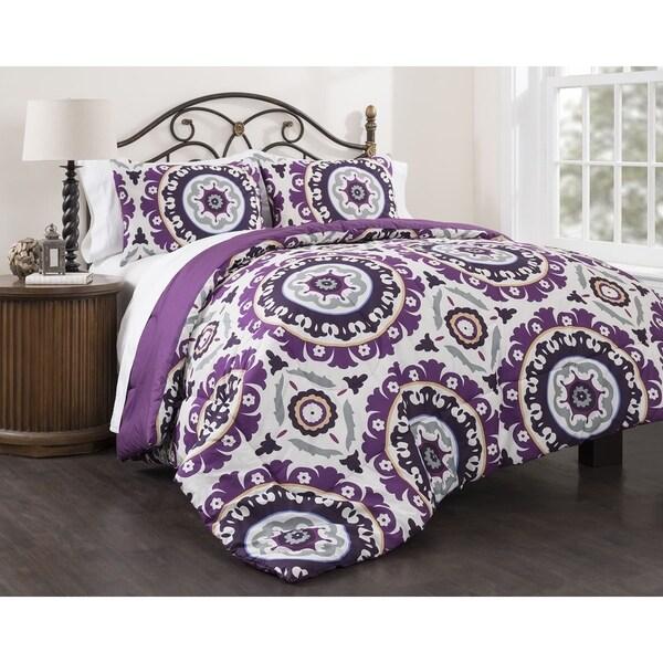 Suzani Royal 3-piece Cotton Duvet Cover Set