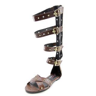 Steve Madden Women's Prix Brown Polyurethane Sandals