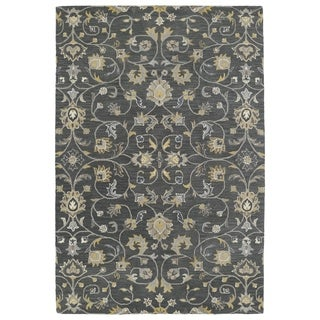 Hand-Tufted Perry Graphite All-Over Wool Rug (9'0 x 12'0)