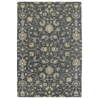 Hand-Tufted Perry Graphite All-Over Wool Rug - 9' x 12'