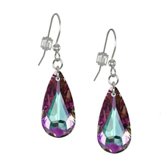 Jewelry by Dawn Light Vitrail Swarovski Crystal Teardrop Sterling Silver Earrings