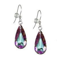 Handmade Jewelry by Dawn Light Vitrail Swarovski Crystal Teardrop Sterling Silver Earrings