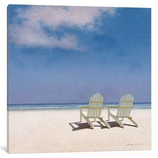 iCanvas Beach Chairs by Zhen-Huan Lu Canvas Print