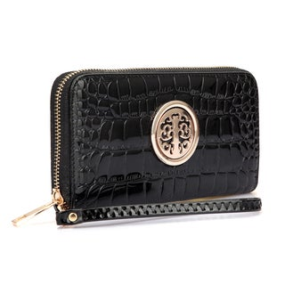 Dasein Zip Around Emblem Wallet