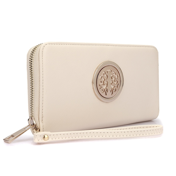 5b91e3e4a15c Shop Dasein Zip Around Emblem Wallet - Free Shipping On Orders Over ...