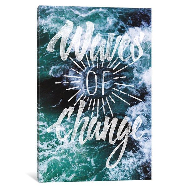 iCanvas Waves of Change by 5by5collective Canvas Print
