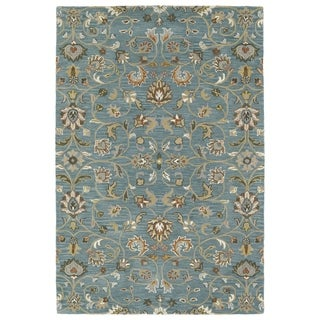 Hand-Tufted Perry Turquoise All-Over Wool Rug (2'0 x 3'0)
