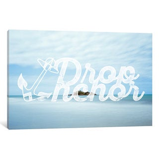 iCanvas Drop Anchor by 5by5collective Canvas Print