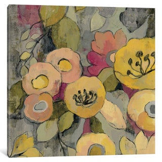 iCanvas Yellow Floral Duo II by Silvia Vassileva Canvas Print