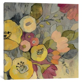 iCanvas Yellow Floral Duo I by Silvia Vassileva Canvas Print