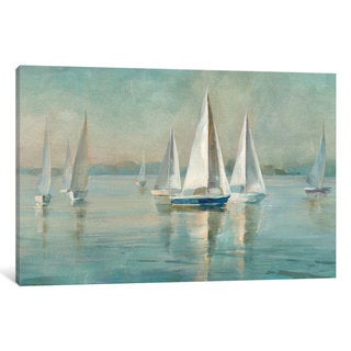 iCanvas Sailboats at Sunrise by Danhui Nai Canvas Print