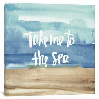 iCanvas Coastal Breeze Quotes II by Anne Tavoletti Canvas Print