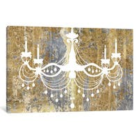 iCanvas Gilded Chandelier by Wild Apple Portfolio Canvas Print