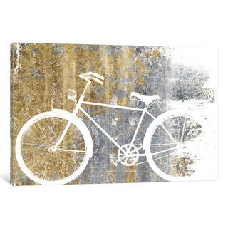 iCanvas Gilded Bicycle by Wild Apple Portfolio Canvas Print