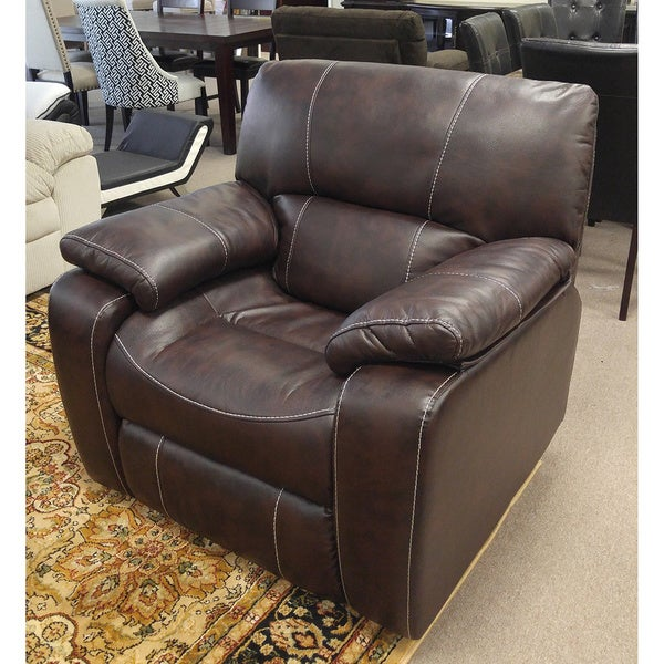 Silverado Modern Printed Leather Reclining Chair