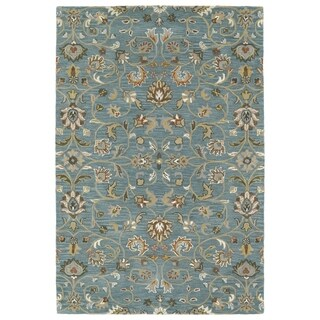 "Hand-Tufted Perry Turquoise All-Over Wool Rug (5'0 x 7'9"")"