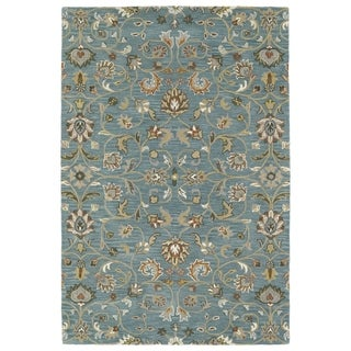Hand-Tufted Perry Turquoise All-Over Wool Rug (8' x 10')
