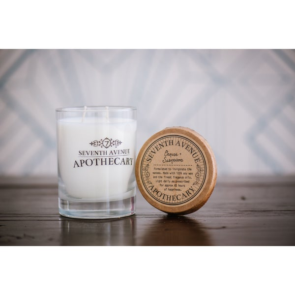 Hand-poured Orange and Sugarwood Artisan Soy Candle