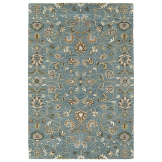 Hand-Tufted Perry Turquoise All-Over Wool Rug (9' x 12')