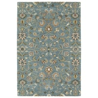 Hand-Tufted Perry Turquoise All-Over Wool Rug (9'0 x 12'0) - 9' x 12'