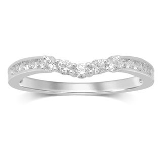 Unending Love 14-karat Gold 1/3-carat Diamonds Contour Wedding Band