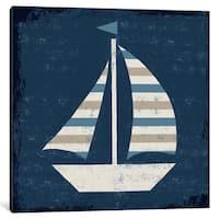 iCanvas Nautical Love (Sail Boat) by Michael Mullan Canvas Print