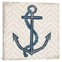 Havenside Home  Nautical Anchor Print by Michael Mullan Canvas