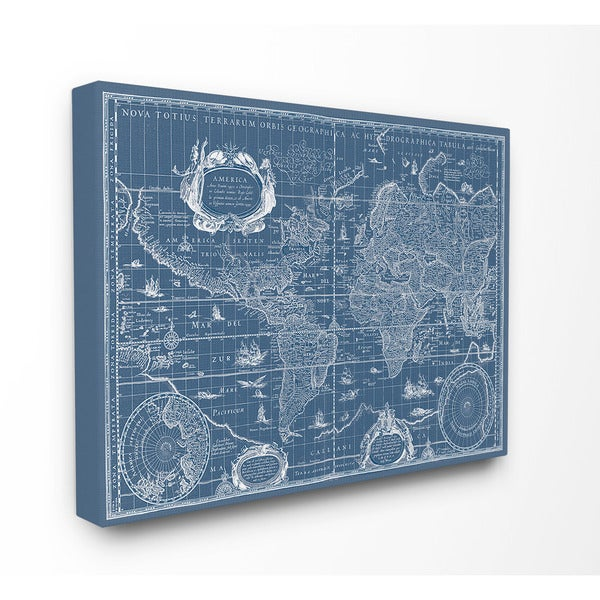 Stupell canvas vintage blueprint world map canvas wall art free stupell canvas vintage blueprint world map canvas wall art malvernweather Choice Image
