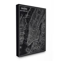 Classic Collections Fine Art New York City 1985 Vintage Map Stretched Canvas Wall Art