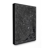 'New Orleans 1985' Vintage Map Stretched Canvas Wall Art